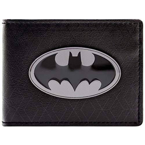 DC Comics Batman Bat Symbol Badge Schwarz Portemonnaie Geldbörse -