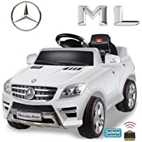 Mercedes-Benz ML Original 4x4 4MATIC 350 SUV Lizenz Kinderauto Kinderfahrzeug (ROT/WEISS)