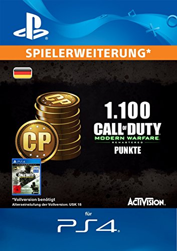 Call of Duty: Modern Warfare Remastered 1100 Points Edition [PS4 Download Code - deutsches Konto]