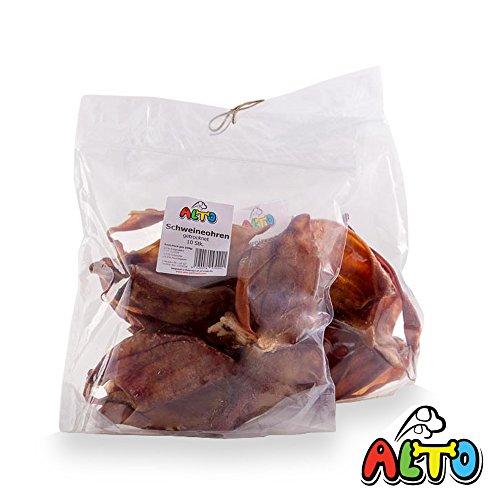 Alto-Petfood - 20 Stück XL Schweine-Ohren | Natur luftgetrocknet | ohne Lockstoffe | wiederverschließbarer Beutel / Naturkauartikel, Hundeleckerli, Kausnack, Hundesnack, Hunde Kauartikel, Schwein, Ohren, Schweineohren, Schweinsohren, SO20