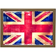 Marko Homewares Union Jack Bean Bag Lap Tray Student Tv Dinner Food Breakfast Bed Unique