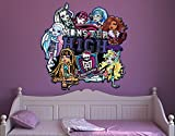 Klebefieber Wandtattoo Monster High Friends Clique B x H: 30cm x 33cm