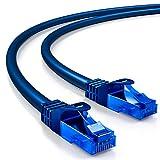 deleyCON 10m CAT.6 Ethernet Gigabit LAN Netzwerkkabel RJ45 CAT6 Kabel Patchkabel U/UTP Kompatibel zu CAT.5 CAT.5e CAT.6a Cat.7 - Blau