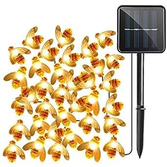Alimentato ad energia solare Per Luce esterna, Impermeabile 30 LED Fata Luci a corda, Bumble Bee Luce decorativa per Garden, Flower Fence, Patio, Prato, Alberi, Party, Casa, Natale (Bianco caldo)