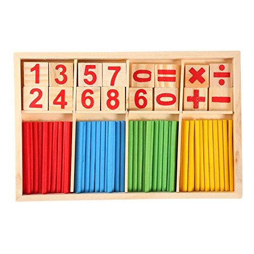 Juguetes de madera Bloques de Construcción Contando los palillos para niños, preescolares