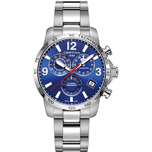 Certina DS Podium GMT Herren-Armbanduhr 42mm Batterie C034.654.11.047.00