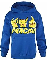 Pokemon - Sudadera con capucha oficial de Pokemon modelo Pikachu para niño