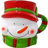 Tazas de Navidad 3D, Gres, Papá Noel o Muñeco de Nieve (Muñeco de Nieve)