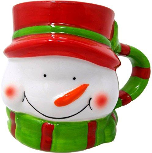 3D Christmas Stoneware Mug: Snowman
