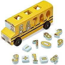 Melissa & Doug Number Matching Maths Bus Niño Niño/niña Juguete para el Aprendizaje -