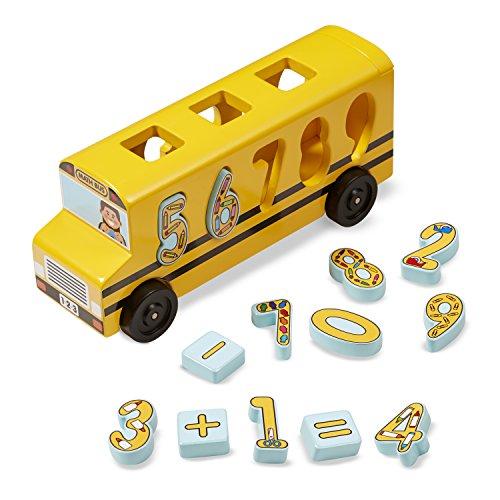 Melissa & Doug Number Matching Maths Bus Niño Niño/niña juguete para el aprendizaje - juguetes para el aprendizaje (127 mm, 101,6 mm, 297,2 mm, 1,01 kg, 34,9 cm, 34,3 cm)