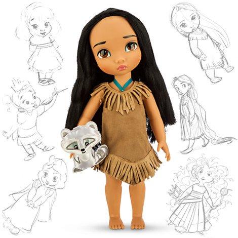 Toddler Disney Princess (Disney Princess Animators' Collection Toddler Doll 16'' H - Pocahontas with Plush Friend Meeko by)
