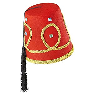 WIDMANN Sombreros Fez Lusso?de fieltro Mens, color rojo, talla única, vd-wdm1413F
