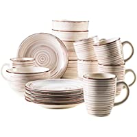 Domestic by Mäser Serie del Tempo –Set de desayuno, 18piezas, para 6personas, porcelana, 30x 40x 40cm, porcelana, beige, 30 x 40 x 40 cm