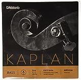 D'Addario Bowed Jeu de cordes pour contrebasse D'Addario Kaplan, manche 3/4, tension Medium