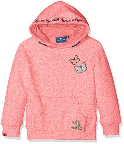 TOM TAILOR Kids Mädchen Sweatshirt Sweet Sweater with Details, Orange (Flashy Coral 5458), 134