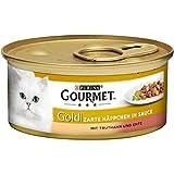 Purina Gourmet Gold Zarte Häppchen Katzennassfutter, 12er Pack (12 x 85g Dose)