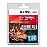 AgfaPhoto APCCLI526SETD PGI-525 BK CLI-526 Bonuspack Druckerpatrone für Canon, schwarz/gelb/magenta/cyan