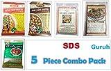 #6: SDS Masala 5 Piece Combo(1 ShahiPaneer +1 Chana Masala +1 Rajma Masala + 1 SoyaChaap Masala + 1 DumAllo Masala)