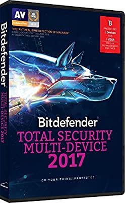 Bitdefender Total Security Multi Device 2017 - 5 Devices, 1 year Sealed Retail DVD