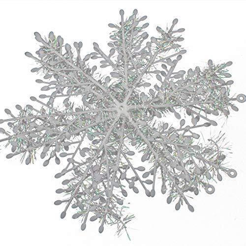 Aiming 5 Sätze Weihnachtsbaum Hängende Schneeflocke Dekoration weißen Schneeflocke Orngaments (Schneeflocke Dekorationen Schnur)