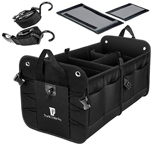TrunkCratePro Premium Multi Fächer zusammenklappen tragbar Kofferraum Organizer für Auto, SUV, Truck, Minibus