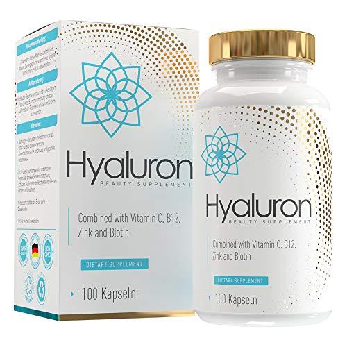 ANGEBOT Hyaluronsäure Kapseln 800 mg | 500-700 kDa | Hochdosiert | Vegan | 100 Kapseln | angereichert mit Biotin, Zink, Vitamin C und B12 | SKINLOVE®