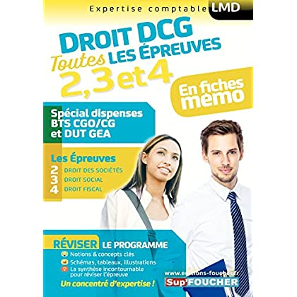 Droit DCG : Toutes les révisions de l'UE 2, 3, 4 - Spécial dispense BTS CG et DUT GEA