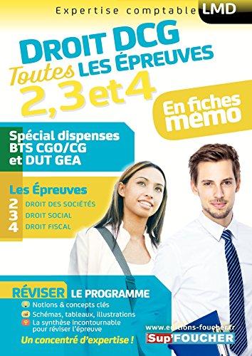 Droit DCG : Toutes les révisions de l'UE 2, 3, 4 - Spécial dispense BTS CG et DUT GEA par Alain Burlaud