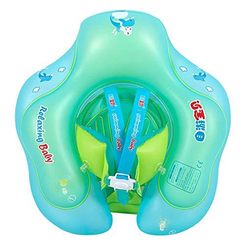 HMJZ Baby Schwimmring Anti-Rutsch Schultergurtschutz Einteilige Schnalle ÜBerrollschutz Multi-Ballon-Design Schwimmender Kreis mit Aufblasbarem Schlauch für Neugeborene Im Alter von 1 Bis 6 Jahren,S