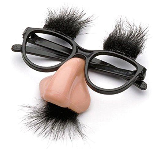 e mit Schnurrbart und Nase Kostüm für Halloween Party Zubehör ()