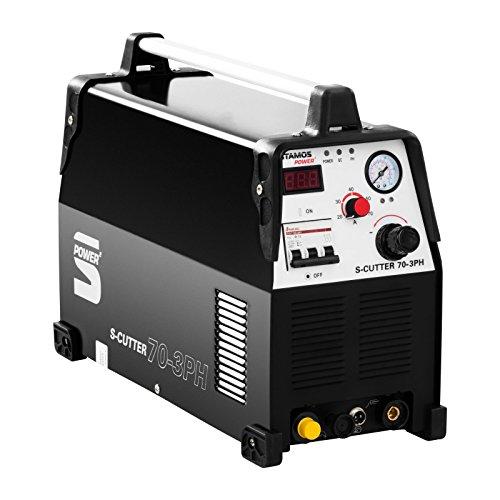 Stamos Power - S-CUTTER 70 3PH - Plasmaschneider - Schneidstrom bis 70 Ampere - Schneidleistung von 20 mm - 60% Einschaltdauer - stufenlos einstellbarer Schneidstrom - HF Zündung