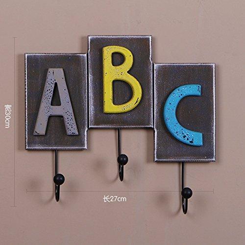 Buchstaben Sie zahlen/Styling Haken, Reihen von Haken Wandbehang,ABC alphabet (Alphabet Buchstaben Kostüme)