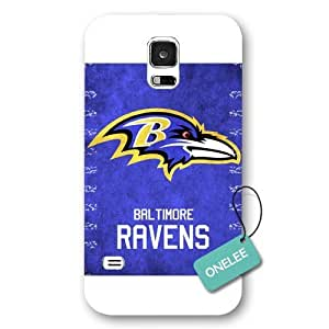 SMMNKOL? (TM) - Black Frosted Baltimore Ravens Samsung Galaxy S5 Case & Cover - NFL LOGO Samsung Galaxy S5 Case & Cover - White 1
