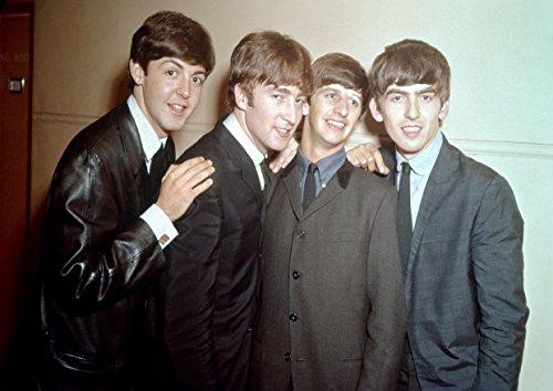 ula bear Beatles 35, A3 laminiertes Poster, Foto, George Harrison, Ringo Starr, John Lennon, Paul McCartney, Rock, Metal, Album, Band, Musik, Unikat, Cover, Tod, Metall