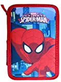 Paxos 82946 Trousse triple compartiment tissu 13 x 20 x 6 cm - Spiderman