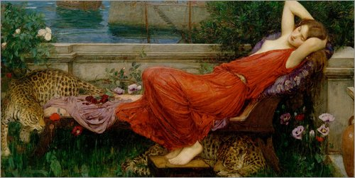 Forex-Platte 80 x 40 cm: Ariadne von John William Waterhouse / akg-images