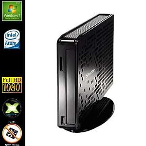 Sedatech Mini-PC Multimedia Passive Cooling Desktop (Intel D2550 2x 1.86GHz Processor, 4GB RAM, 60GB SSD, DVD-RW, Full HD 1080P, Wi-Fi, Radeon HD7410M, Card Reader, Windows 7)