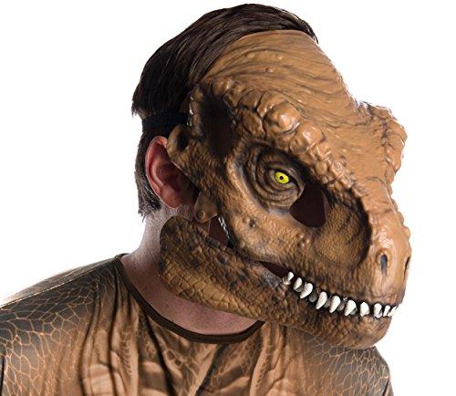 Jurassic Park Maske - Rubies Unisex T-Rex Gesichtsmaske für Erwachsene