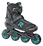 Roces Icon, Pattino in Linea Donna, Black/Aqua, 40