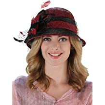 MGS-Sombreros   Mujer Primavera Verano Otoño Vintage Bonito Fiesta Trabajo  Lino Bombín Cloche 3cb48a22875