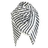 TianWlio Frauen Schals Frauen Neue Winter Square Stripe Schal Frauen Schal Plaid Schals Decke Schals Schals