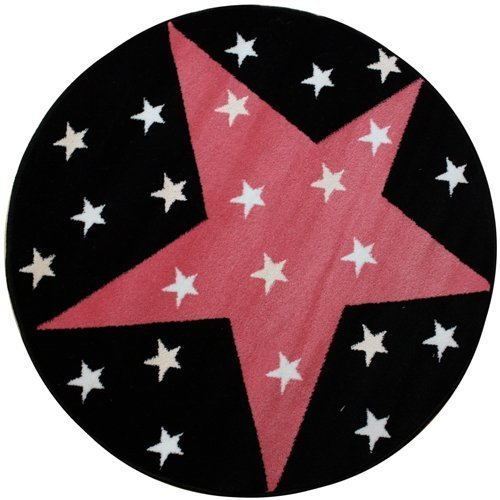 childrens-rugs-twilight-100cm-approx-circular-rug-super-star-pink-uk-mainland-delivery-only-due-to-p