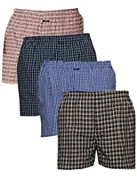 AKAAS Men's Boxer (Pack of 4) Assorted Mixed Variety