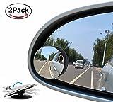 New tondeggiante per punti ciechi (2pezzi) senza telaio in vetro HD grandangolare 360° ruotabile convesso specchio auto Side Mirror stick sul retrovisore per tutte le auto SUV camion moto