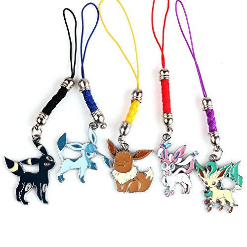 VARY100 Cartoon Pokemon Pocket Monster Meowth Psyduck Charmander Schlüsselanhänger