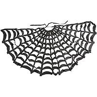 MagiDeal Capa de Telaraña de Poliéster Negra Disfraces para Fiesta de Halloween de Adultos y Niños Traje de Vestir