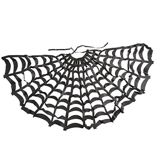 (MagiDeal Gothic Cloak Schwarz Spinnen Web Cape Halloween Fancy Dress Kostüm Zubehör)