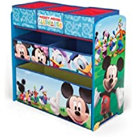 Preisvergleich für Delta Children's Products Disney Mickey Mouse Multi Toy Organizer für Spielzeug aus Holz mit Textilschubladen Aufbewahrungsbox mit Schubladen