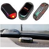 Imitación de alarma solar para automóvil, con piloto LED de color rojo, protección contra ladrones